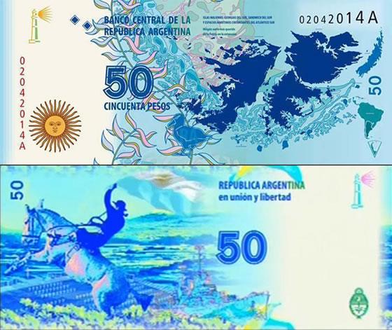 Cristina presentó nuevo billete de 50 pesos con la imagen de las Islas Malvinas
