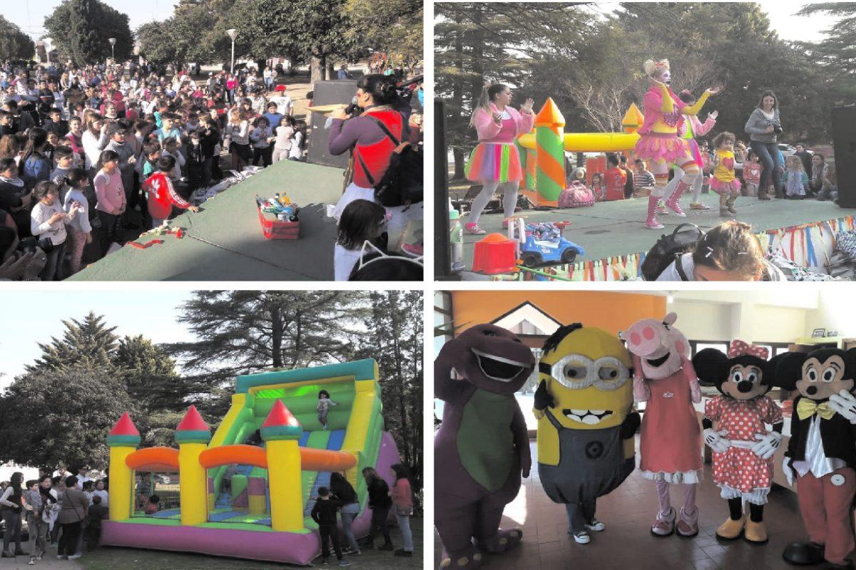 Del Campillo: los niños festejaron su día con juegos, sorteos, shows y juguetes