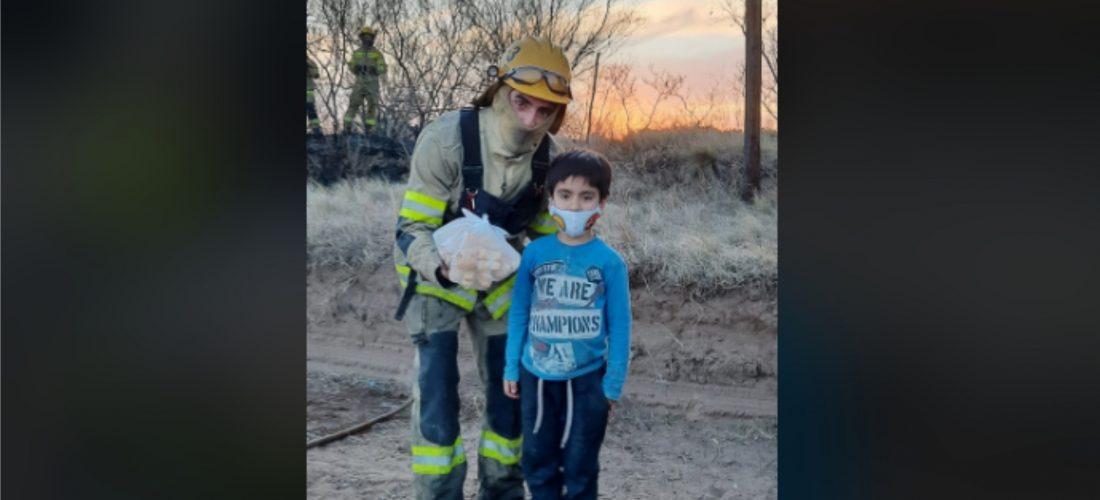 """Laboulaye: un incendio y el enorme gesto de """"Lolo"""" para agradecer a los Bomberos"""