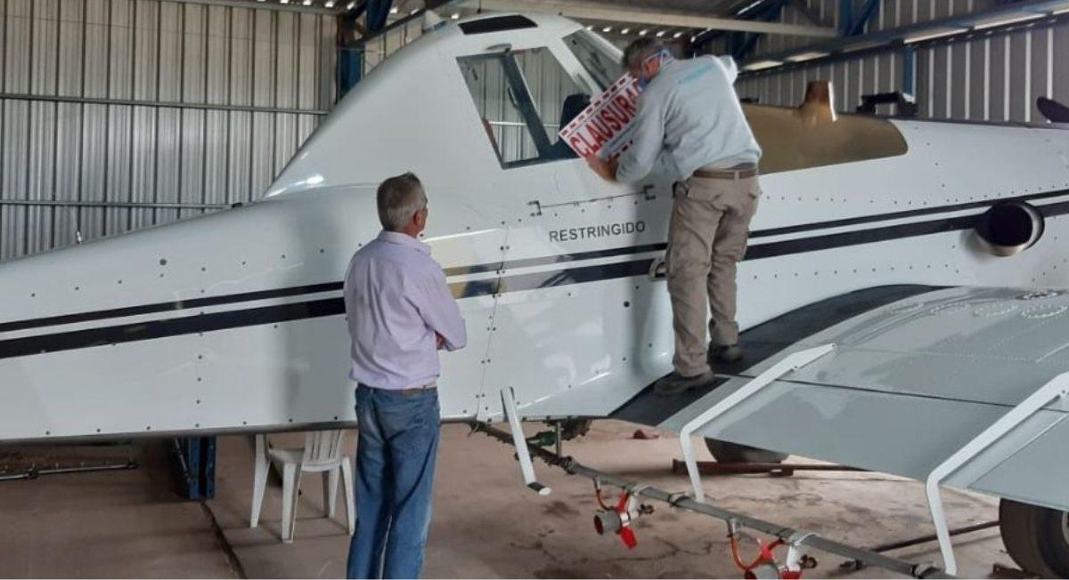 Agroquímicos: clausuran una aeronave de pulverización en Serrano