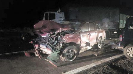 La Cautiva: violento choque deja cuatro personas heridas