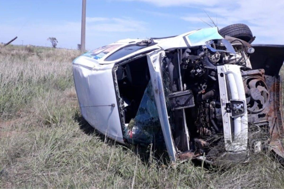 Accidente: vehículo utilitario protagonizó un vuelco en cercanías de Italó