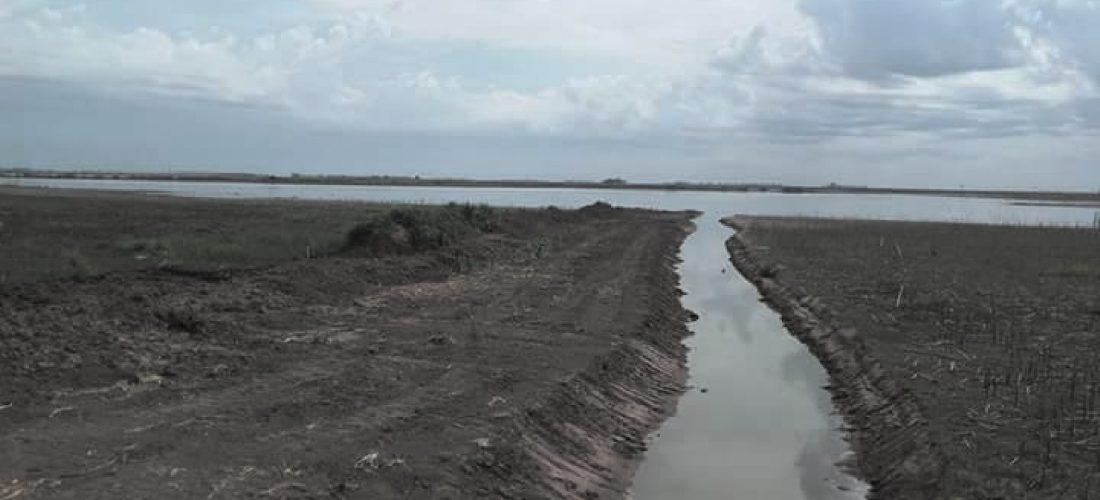 """Buchardo: """"La obra del canal aliviador es fundamental para proteger el casco urbano"""""""