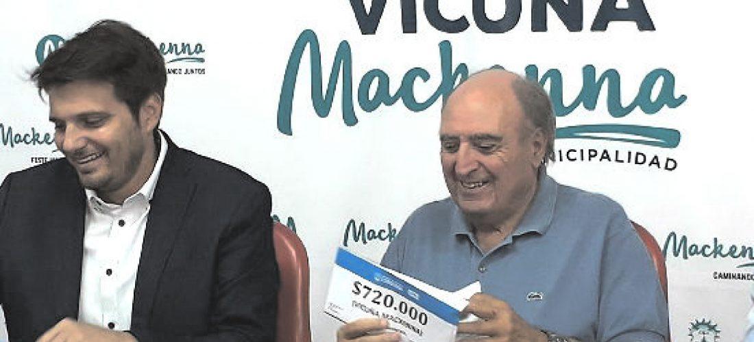 La Provincia entregó fondos para obras en Mackenna, La Cautiva y Tosquita