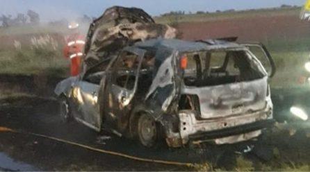 Siniestro: un auto se incendió por completo en cercanías de Italó