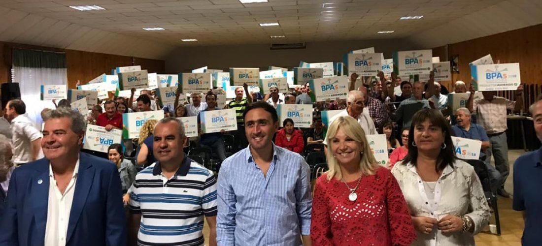 BPA`s: productores del sur cordobés recibieron aportes en Serrano y Jovita