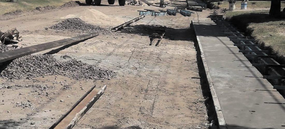 Del Campillo: avanzan obras de cordón cuneta y pavimento