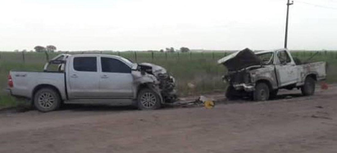 Tragedia: hombre de 67 años murió en choque frontal
