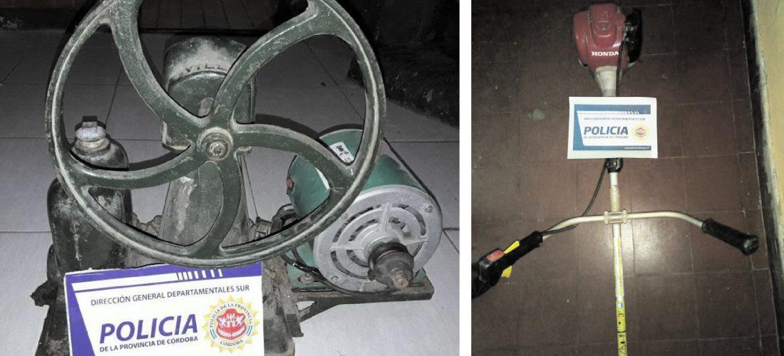 La Policía recuperó objetos robados en Huinca y Del Campillo