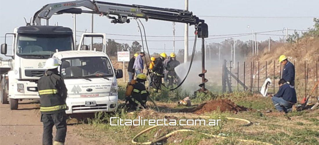 Laboulaye: la rotura de un caño de gas activó la rápida asistencia de Bomberos