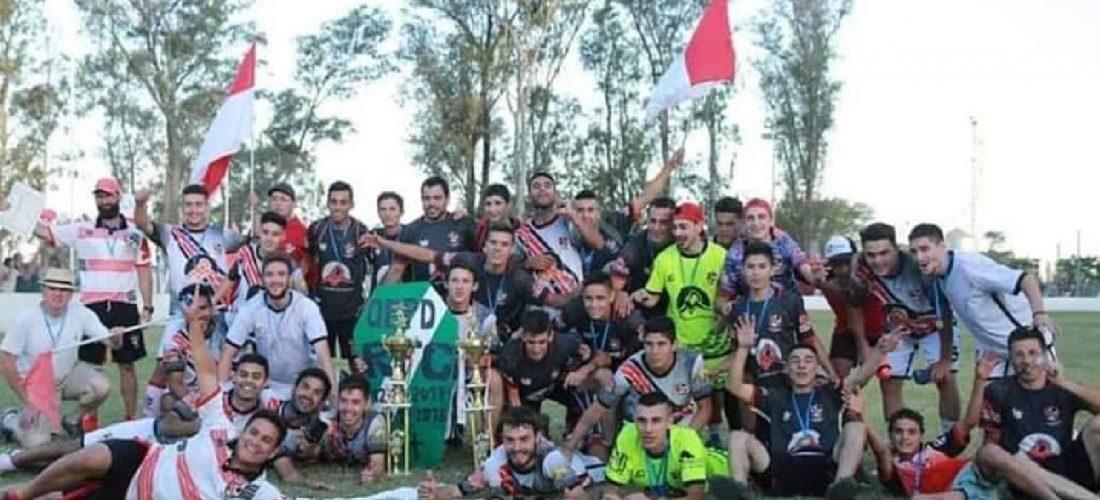 La Lonja se proclamó campeón y festeja Villa Rossi