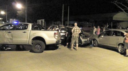 Tres vehículos protagonizaron un choque en General Levalle