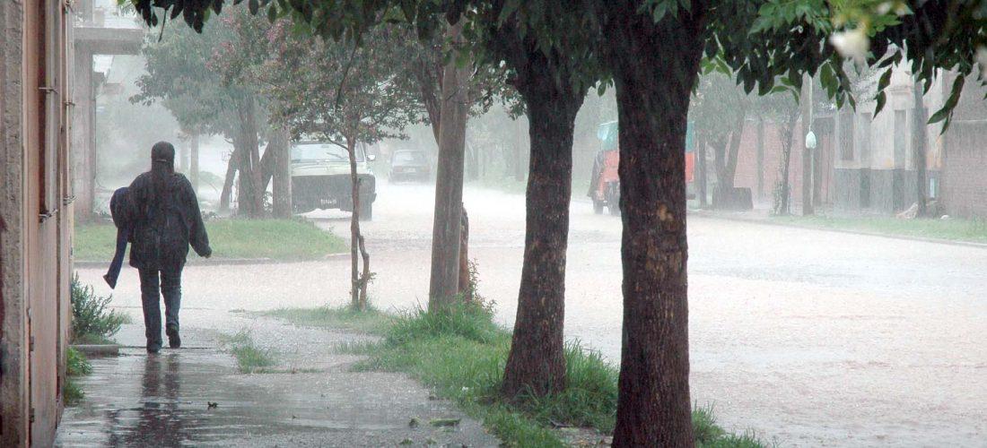 Registro de lluvias (mm) caídas hasta la mañana del lunes en el Dto. Roque S. Peña