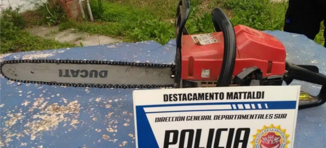 Allanamiento en zona rural: recuperan motosierra sustraída a vecino de Mattaldi