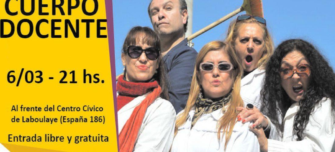 """Laboulaye: presentan este martes la obra de teatro """"Cuerpo Docente"""""""