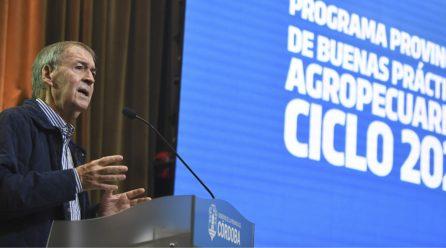 Schiaretti lanzó la quinta edición del programa de Buenas Prácticas Agropecuarias
