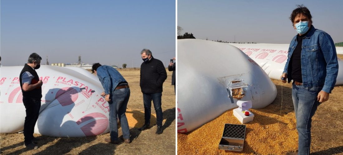 Exitosa prueba: Córdoba incorpora tecnología para brindar seguridad a silobolsas