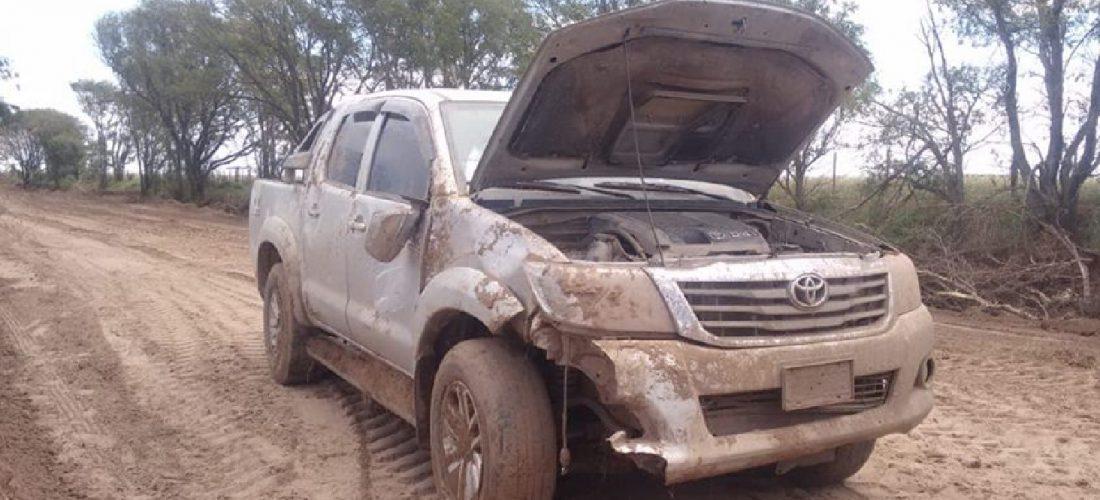 Protagonizó un accidente en camino rural cerca de V. Valeria