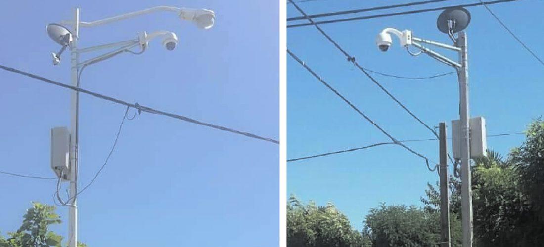Serrano: el municipio instaló cámaras de seguridad en la vía pública