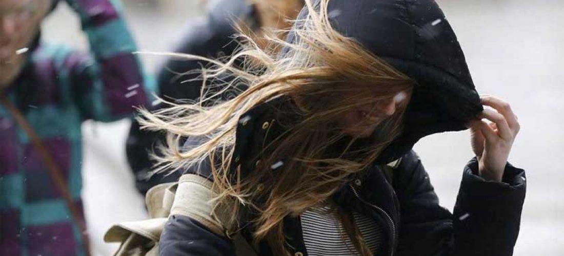El viento sur hizo descender la temperatura en el sur cordobés