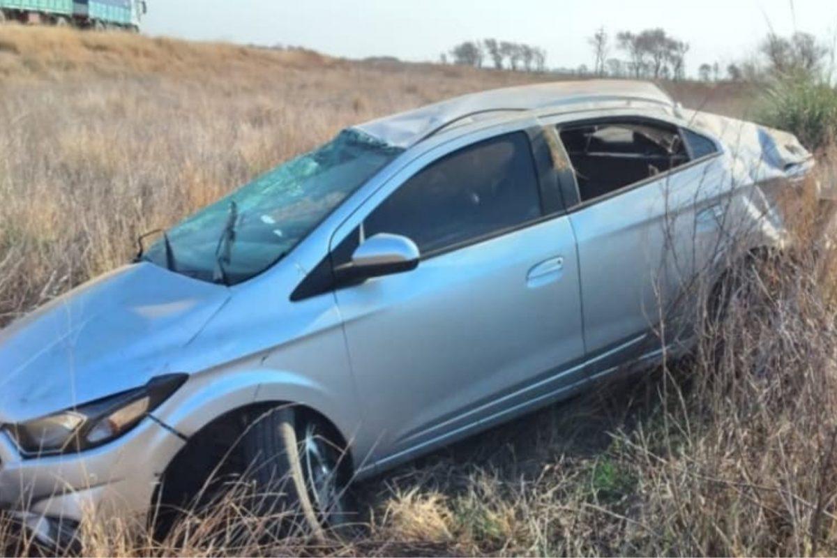 Accidente: mujer protagonizó un vuelco en la Ruta 35, cerca de Del Campillo